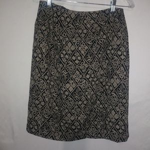CHAUS Black Gold Gorgeous Skirt Sz 10